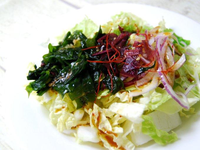 「白菜のチョレギサラダ」のアップ画像