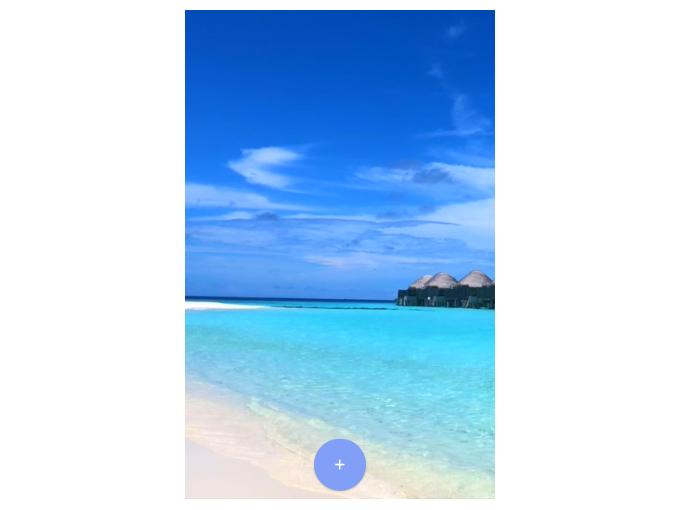 海辺の動画を表示した画像