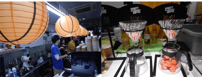 バスケファンにはたまらないカフェです