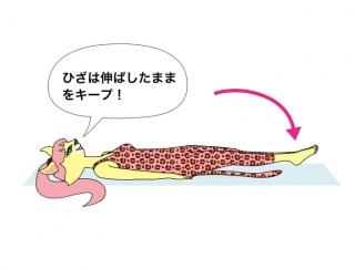 ぺたんこお腹を手に入れる!寝ながら簡単下腹トレーニング