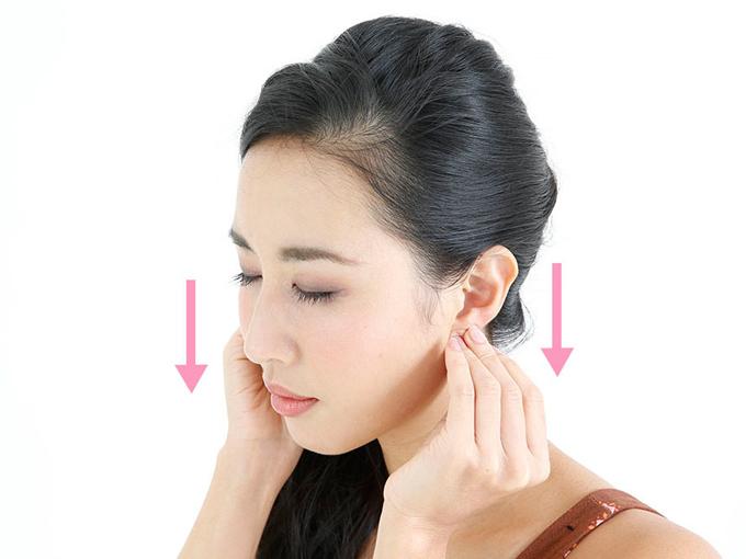 耳たぶポンポン