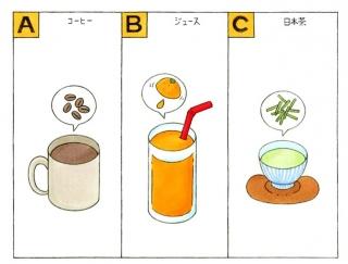 【心理テスト】今、目の前に置いてある飲みものは何?