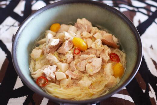 鶏の滋養スープパスタ