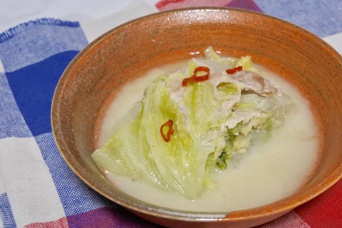 白菜の白みそミルフィール煮