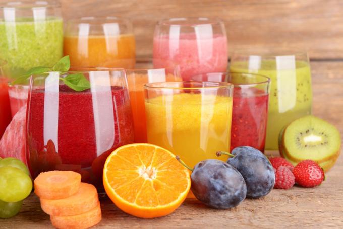 フルーツのジュース