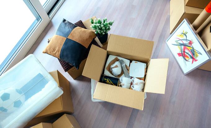 部屋の引っ越し準備のイメージ画像