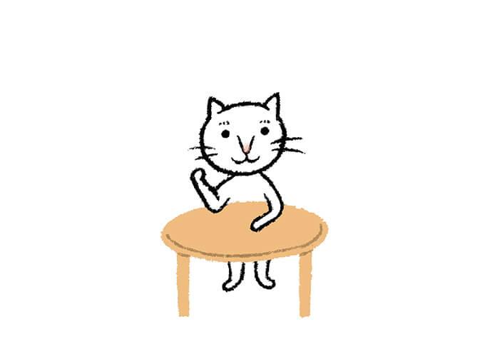 テーブルのポーズ