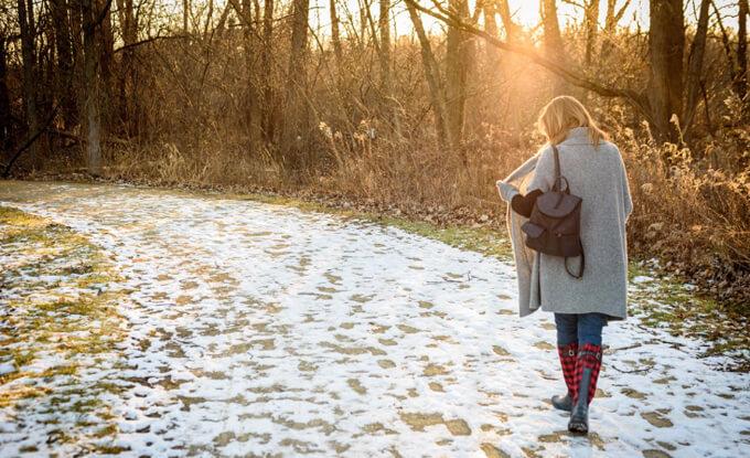 寒い日の外歩き
