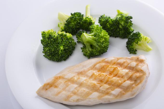 鶏肉とブロッコリーの画像