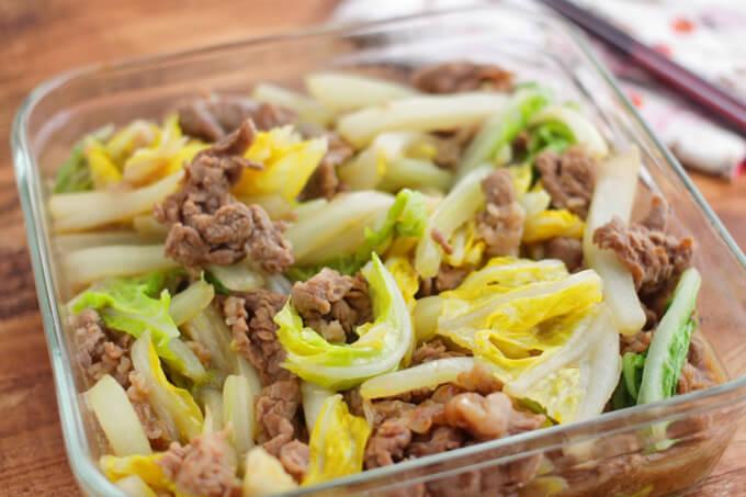 白菜と牛肉のオイスター炒め