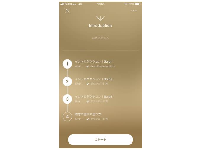 「introduction」のプログラムを表示した画像