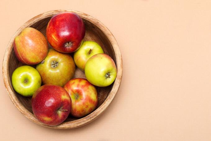 デザートにはりんごを