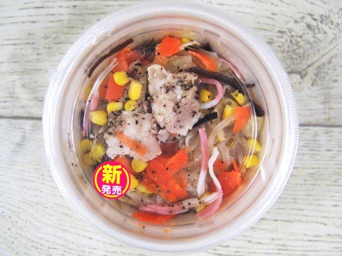 パッケージに入った「1/2日分の野菜が摂れるちゃんぽん風スープ」の画像