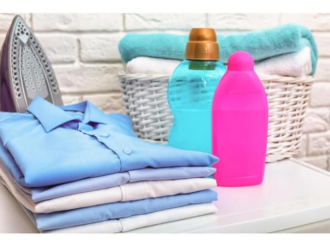 洗濯物と洗剤