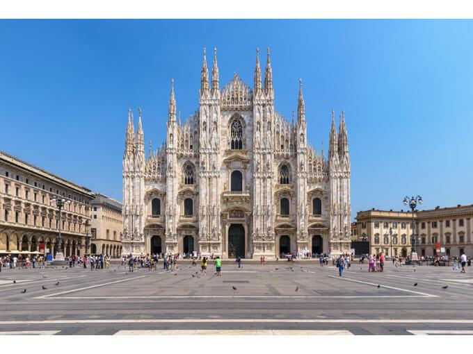 ミラノの街中の風景