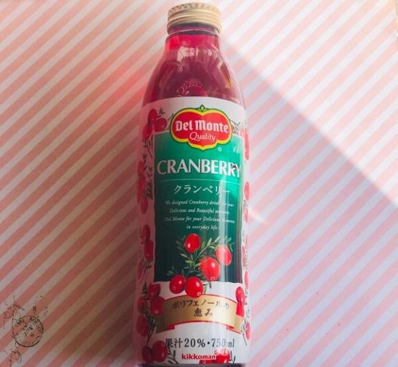 デルモンテのクランベリージュース