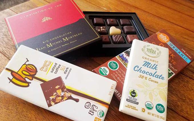 オーガニックチョコレートの数々