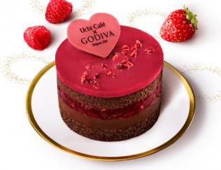公式サイトで掲載された「Uchi Café Sweets×GODIVA ショコラケーキラズベリー」の画像