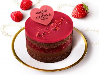 数量限定!コンビニスイーツの域を超えた本格味の「Uchi Café Sweets×GODIVA ショコラケーキラズベリー」