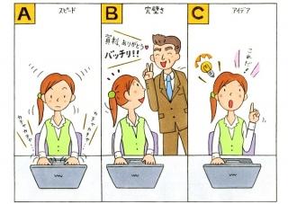 仕事中の女性のイラスト