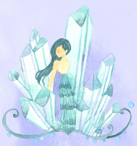 水晶の人のイラスト
