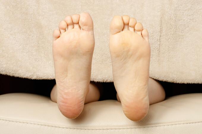 足裏が白い例