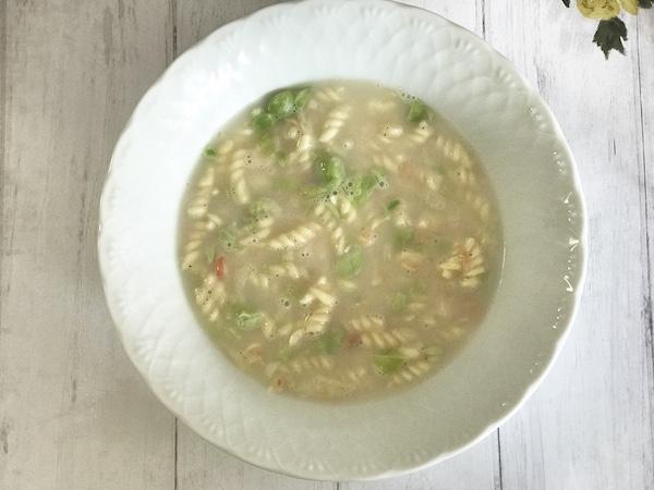 『枝豆とサーモンのクリームパスタ』のできあがり