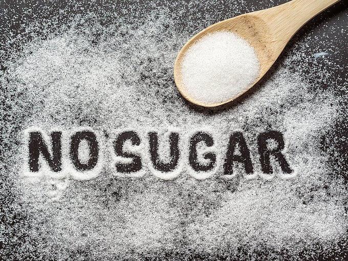 砂糖で「NO SUGER」と書いてある