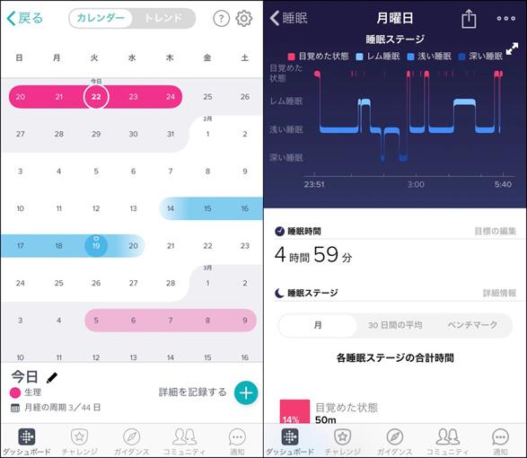 Fitbitアプリ画面2