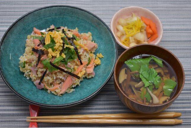 玄米ちらし寿司のできあがり