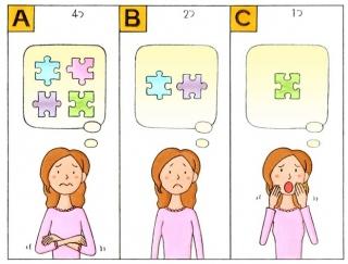 【心理テスト】パズルのピースが足りません。何個足りない?