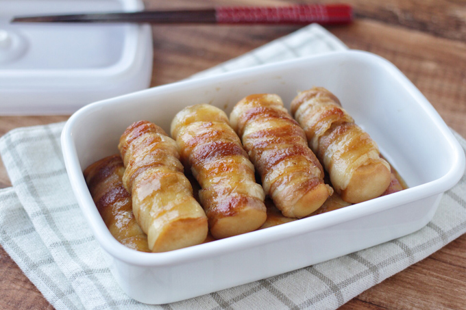 高野豆腐の肉巻のできあがり