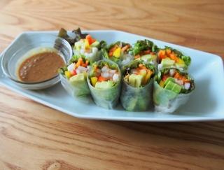 春のおもてなしレシピにピッタリ☆「ぬか漬けとカラフル野菜の生春巻き」