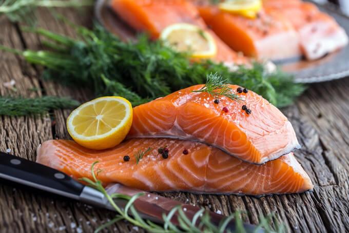 鮭の切り身の画像