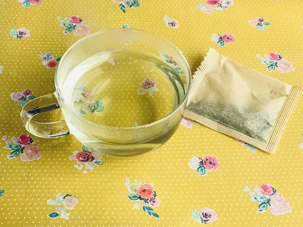 べにふうき茶をいれたところ