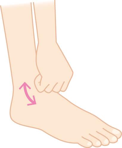 足首を刺激する