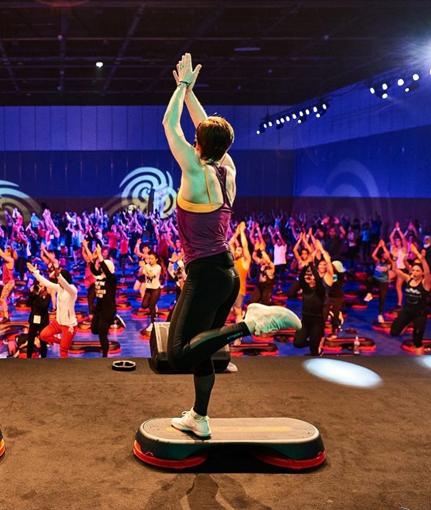 レズミルズのライブトレーニング © 2016 Dubai Muscle Show