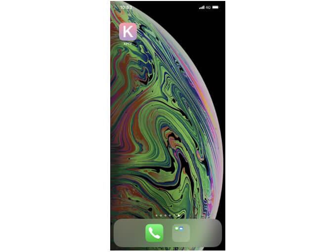 スマートフォンのホーム画面の画像