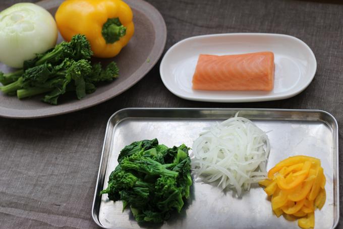 春野菜のマリネの材料