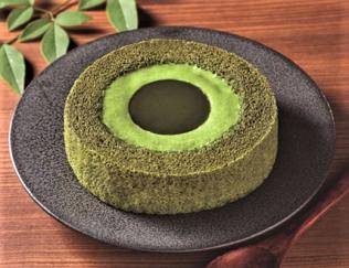 「濃い茶ロールケーキ」の画像