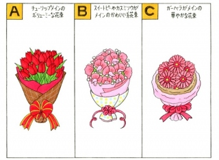 花束のイラスト