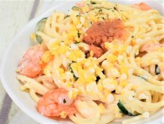 明太バラコのプチプチ感を楽しもう♪ 味よし見た目よしで笑顔がこぼれるファミマの「海老と明太のスパゲティサラダ」
