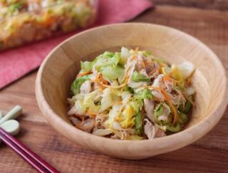 さっぱりボリューミィーで満足感大!「キャベツと豚しゃぶのごま酢サラダ」#今週の作り置き
