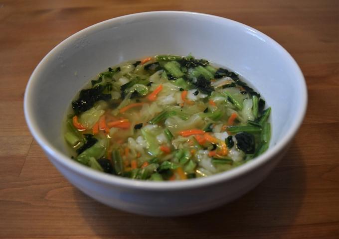 レシピ通りに作ったスープごはん