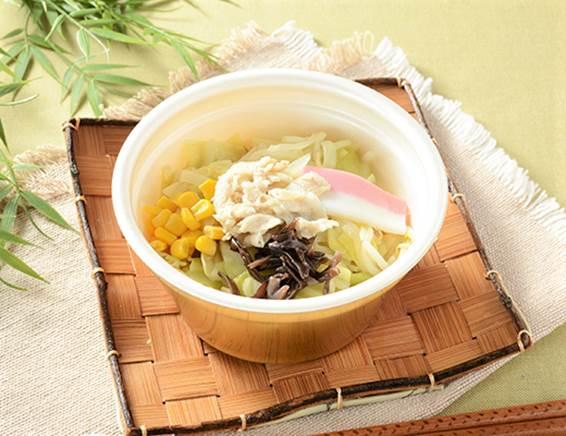「豆乳仕立てのちゃんぽん春雨スープ」の画像
