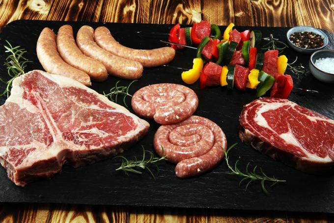 色々な種類のお肉の画像