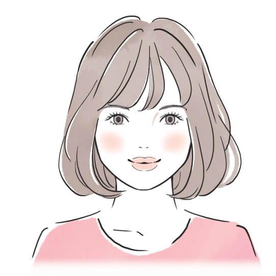 キュートの顔タイプイラスト