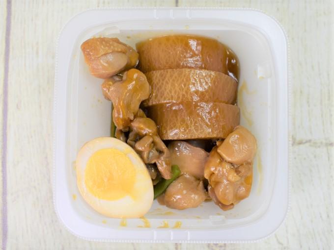 フタを開けた「味しみ鶏大根」の画像