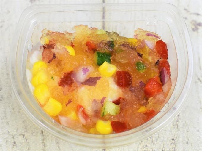 フタを取った「ジュレとマッシュポテトのサラダ」の画像