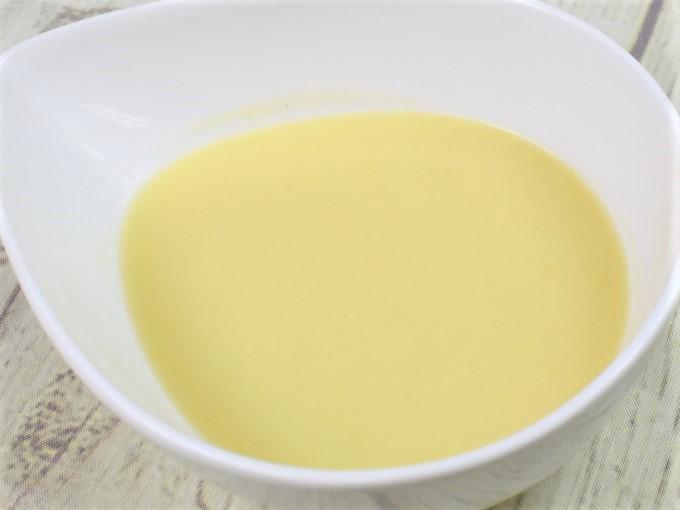 「冷たいとうもろこしのスープ」のアップ画像